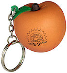 Peach Key Chain Stress Balls